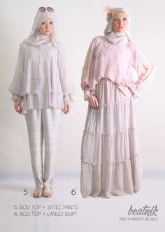 BOETNIK   BOHEMIAN ETNIK Pastel colors pallete. Dusty pink. Cream. Violet. Light grey. High quality Chiffon and Seteen material. Loose and drapery cutting.