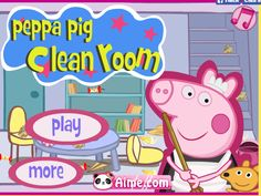 Let's help Peppa Pig clean the living room,kitchen and bedroom you can play #girlsgogames on http://www.girlsgo2games.com/games-peppa-pig-clean-room.html