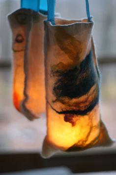 Preparing for Martinmas: Felted Lanterns   Dark Blue Dragon