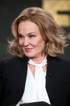 Jessica Lange Photos Photos - Actress Jessica Lange of the television show 'Feud' speaks onstage during the FX portion of the 2017 Winter Television Critics Association Press Tour at Langham Hotel on January 12, 2017 in Pasadena, California - 2017 Winter TCA Tour - Day 8