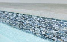 Swimming Pool Tiles, Swimming Pool Designs, Backyard Pool Designs, Pool Landscaping, Pool Backyard, Waterline Pool Tile, Pool Finishes, Pool Colors, Backyard Renovations