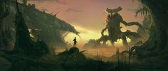 ArtStation - Across The Swamp, Jeremy Paillotin