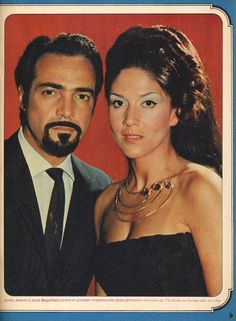 Yoná Magalhães and Carlos Alberto in the soap opera A Sombra de Rebeca de Glória Magadan (TV Globo, the story of a forbidden love, mixing elements of Puccini's Madame Butterfly and of Daphne Du Maurier's novel Rebecca . Daphne Du Maurier, Madame Butterfly, Cinema, Forbidden Love, I Miss You, Actors & Actresses, Nostalgia, Movie Posters, Soaps