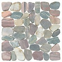Piedra Rio Rocks Wall and Floor Tile - 12 x 12 in - The Tile Shop Pebble Mosaic Tile, Mosaic Rocks, Mosaic Wall, Kitchen Wall Tiles, Wall And Floor Tiles, Kitchen Redo, River Rock Tile, Loft Style Homes, The Tile Shop