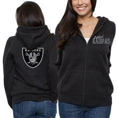 Oakland Raiders Womens Game Day Full Zip Hoodie  #fanatics