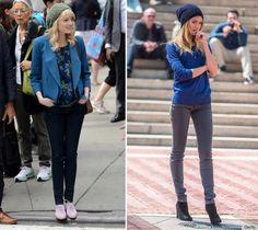 DO pair a loose-at-the-top beanie with tight skinny jeans. Emma Stone and Candice Swanepoel master great daytime outfits that will surely keep you warm.