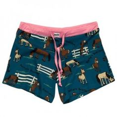 Pasture Bedtime Women's Boxers -  These shorts have no pockets or fly but include a drawstring and elastic waistband. Great for warm nights! 100% Cotton. XS-XL. $15.49
