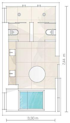 Quatro banheiros que foram transformados em elegantes salas de banho - Casa