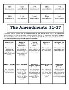 worksheet: 27 Amendments Worksheets The Story Of Us Division ...