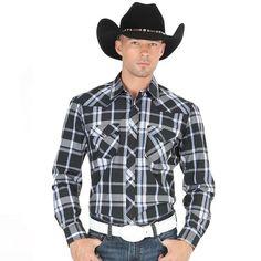 El General Men's Traditional Plaid Western Shirt
