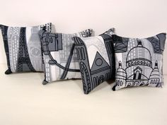 Decorative Pillows by ElleLaLaBoutique on Etsy