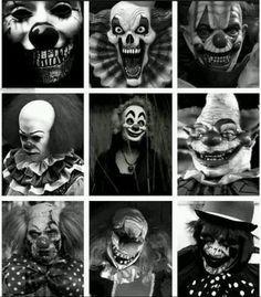 Dark Clowns, how can they be soooo creepy.