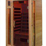 Cabine de sauna d'angle à infrarouge pour 1personne Promotion: Type de bois: Hemlock Sièges (Nombre de personnes): 1 Type de spot…