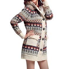 Allegra K Women Single Breasted Long Sleeve Hooded Leisure Fall Sweatercoat Beige S Allegra K. $37.54
