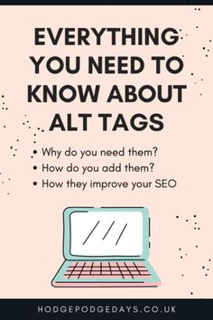 Everything you need to know about Alt Tags - why you need them, how to add them to your images, how they improve your SEO and more! #SEO #Blogging #WordPress #AltTags