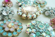 Bejeweled Bling Magnets    Turn your bejeweled earrings (costume jewelry) into magnets by just taking out the backing and gluing magnets into the back. So simple!    DIY, accessories