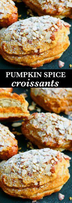 almond croissant | pumpkin croissant | pumpkin recipes | croissant recipes| croissant breakfast | pumpkin ideas | pumpkin treats | pumpkin pastry | pastry recipes |
