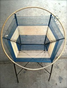 Acapulco chair, with spider web weaving. via Earthenjoy Craft detail, retro, classic