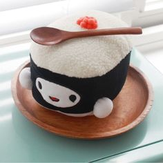 100% Cotton Cute Lovely Kawaii Sushi Doll Choba 6in (15cm) Flying Fish Roe #CottonFood