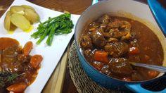 Beef Shin Casserole in a Thyme Gravy - BiaMaith. Beef Shin Recipes, Meat Recipes, Crockpot Recipes, Cooking Recipes, Savoury Recipes, Slow Cooking, Drink Recipes, Yummy Recipes, Slow Cooker Stew Recipes