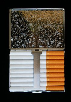 Steampunk Art Nouveau Style Timepiece Cigarette Case - 02 by Two Altered Visions, via Flickr