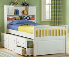 Paxton Bookcase Captains Trundle Bed White http://www.ekidsrooms.com/Paxton_Bookcase_Captains_Bed_White_p/atlctb-wh.htm