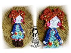 Crochet PATTERN 11 - Applique Doll