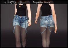 Sims 4 Pics & News — ladyhayny:   Suspenders Shorts  New mesh 15...