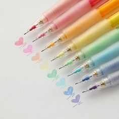 Pilot Color Eno Erasable Mechanical Pencil Using a mechanical pencil doesn't have to mean limiting yourself to plain gray lead! Cool Stationary, Cute Stationery, Stationary Supplies, Mechanical Pencil Lead, Japanese Mechanical Pencils, Instruções Origami, Kawaii Pens, Japanese Colors, Cool School Supplies