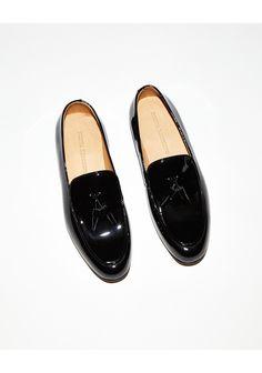 Style - Minimal + Classic  Dieppa Restrepo Ozzie Tassel Loafer   La  Garçonne Black Patent aa1b0407d30f