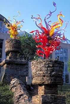 Dale Chilhuly Glass Tower