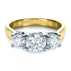Custom Three Stone Engagement Ring