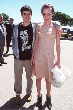 A very cute picture of a very young Harmony Korine and Chloe Sevigny...