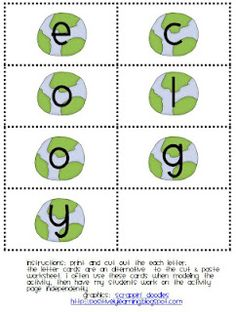 Making Words: Earth Day Style!  -  Pinned by @PediaStaff – Please Visit http://ht.ly/63sNt for all our pediatric therapy pins