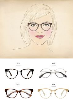 156871bae063 The best glasses for a heart face shape Heart Shaped Face Glasses