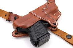The leather shoulder holster simply called the SSR that will change your comfort and ease of carry for the shoulder holster fan's. The Best shoulder hols. 1911 Holster, Gun Holster, Leather Gifts, Leather Craft, Handmade Leather, Saddle Leather, Soft Leather, Kimber Micro, Custom Leather Holsters