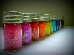 This is actually a cool idea..I'd love to just have jars of multi-colored glitter sitting around.