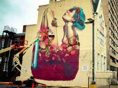 Grandes nombres del arte urbano y algunas de sus obras más emblemáticas, desde miniaturas hasta murales gigantescos.
