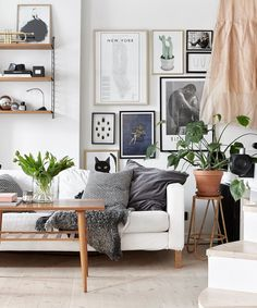 How To Decorate an Awkward Space with a gorgeous Gallery Wall | Apartment Therapy