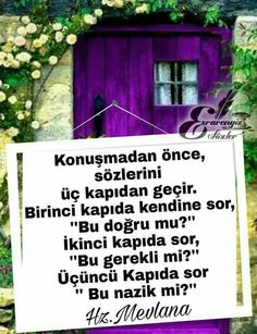 (notitle) - Neslihan Y. Thing 1, Picture Quotes, Cool Words, Karma, Letting Go, Allah, Best Quotes, Quotations, Messages