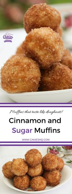 These Cinnamon and Sugar Muffins really taste like doughnuts. An easy recipe, I love making them as mini cinnamon and sugar muffins.