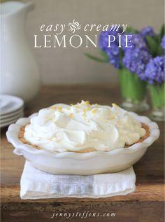 Jenny Steffens Hobick: Easy & Creamy Lemon Pie on Snippet & Ink