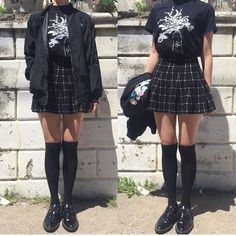 Grunge Outfits – Page 8112508447 – Lady Dress Designs Outfits Casual, Style Outfits, Mode Outfits, Grunge Outfits, Grunge Fashion, Girl Outfits, Fashion Outfits, Womens Fashion, Fashion Edgy