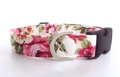 Pink Floral Dog Collar | Rose Dog Collar | Girl Dog Collar | Dog Collar | Floral Dog Collar | Small Dog Collar | Big Dog Collar|Puppy Collar