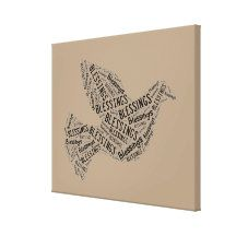 Blessings Dove, Inspirational Canvas Canvas Print