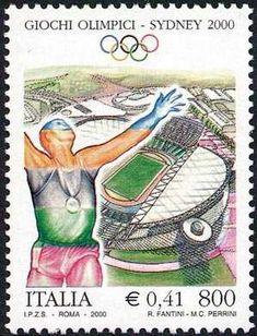 Lo sport italiano - Sydney 2000 - Giochi olimpici estivi - atleta esultante