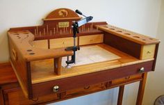 Fly Tying Stand - by summerfi @ LumberJocks.com ~ woodworking community