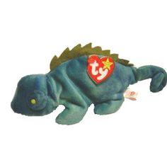 29ac6a3012f TY Beanie Baby - IGGY the Iguana (dark fabric w  spikes) (9.5 inch)