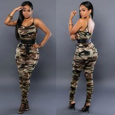 3eb8dbe61f81 Summer Bodysuit Sexy Camouflage Strap Bodycon Jumpsuit Rompers American  Apparel For Women
