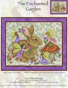The Enchanted Garden - Cross Stitch Pattern by Joan Elliott Designs